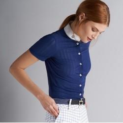 CT Polo Bleu M/Courtes Femme